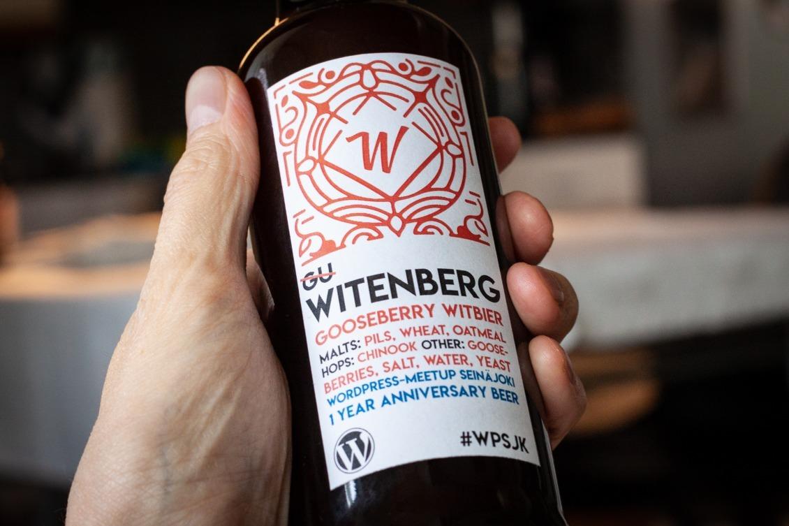 Witenberg - Seinäjoki WordPress Meetup 1 year anniversary beer